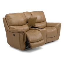Coco Leather Power Reclining Loveseat with Console