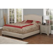 Light Brown Fabric Upholstered 3pc. Queen Bed