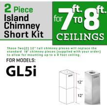 ZLINE Short Kit for Ceilings Under 8 feet ISLAND (SK-GL5i)