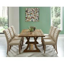 Aspen/Melia 7pc Dining Set, Vintage Pine/Beige