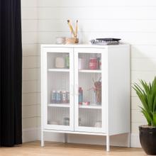 Crea - Metal Mesh 2-Door Accent Cabinet, Pure White