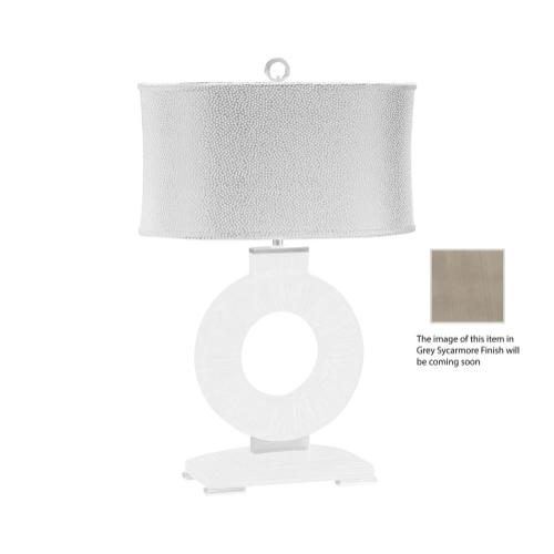 "Opera ""Porthole"" table lamp with stainless steel"