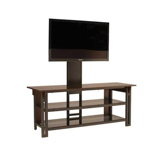 """Product Image - Gunmetal Audio Video Stand Tempered-glass shelves - fits AV components and TVs up to 65"""""""