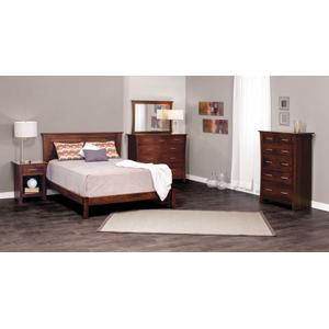 Garrett Headboard with Wood Frame, King, Cherry (Specify Stain Choice), Garrett Headboard with Wood Frame, Twin, Cherry