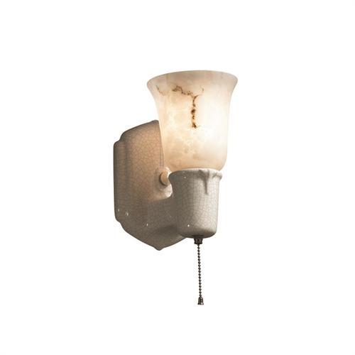Chateau Single-Arm w/ Uplight Glass Shade