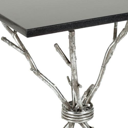 Alexa Mabrle Top Silver Accent Table - Black / Silver