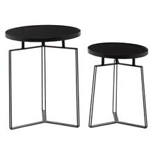 """See Details - MTL GLS ACCENT TABLE S/2 19"""", 23""""H"""