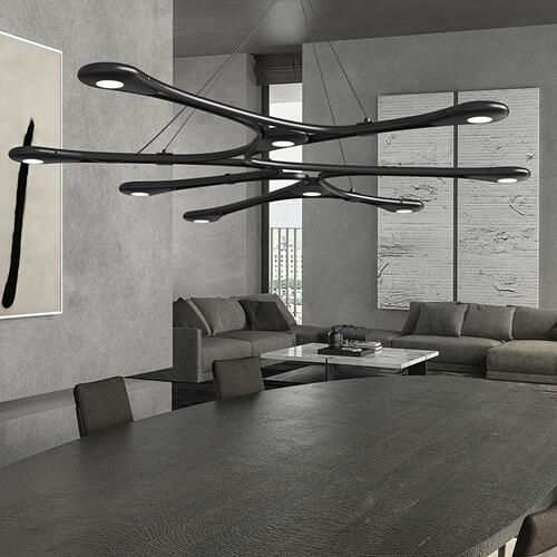 Sonneman - A Way of Light - Abstraction LED Pendant [Color/Finish=Satin Black, Shape=Linear]