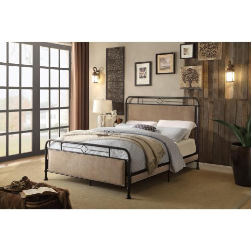 California King Platform Metal Bed