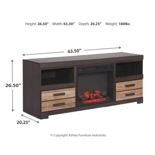 """Harlinton 63"""" TV Stand With Fireplace"""