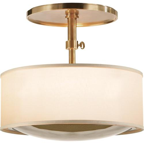Visual Comfort BBL5024SB-S Barbara Barry Reflection 2 Light 15 inch Soft Brass Hanging Shade Ceiling Light
