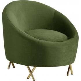 "Serpentine Velvet Chair - 34.5"" W x 38"" D x 33"" H"