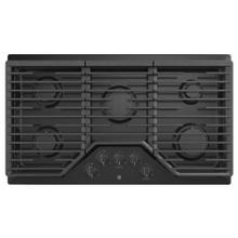 "See Details - GE 36"" Built-In Deep-Recessed Edge-to-Edge Gas Cooktop Black - JGP5036DLBB"