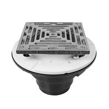 """See Details - 6"""" Square ABS Shower Drain"""