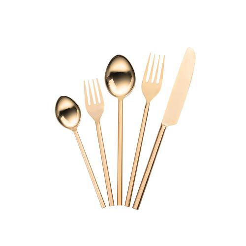 Stainless Steel Rose Gold 20 pc Flatware Set