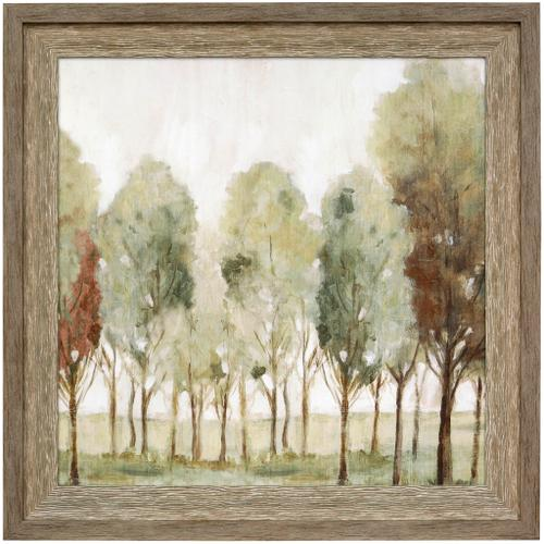 Style Craft - SILENT FALL I  43in w X 43in ht  Textured Framed Print  Made in USA