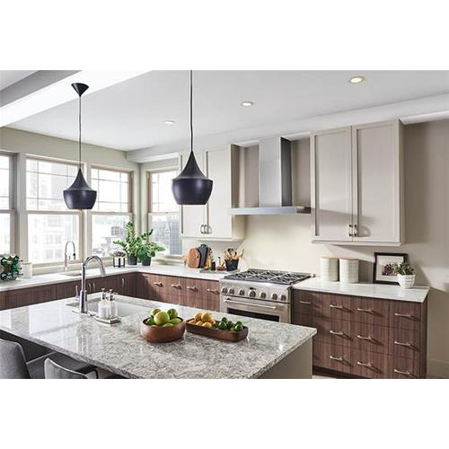 Ispira 30-in. 650 Max CFM Stainless Steel Chimney Range Hood with PURLED Light System and Brushed Grey Glass