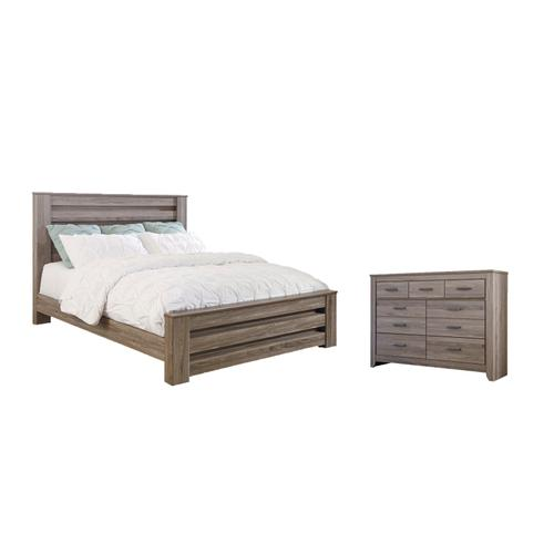 Ashley - King Panel Bed With Dresser