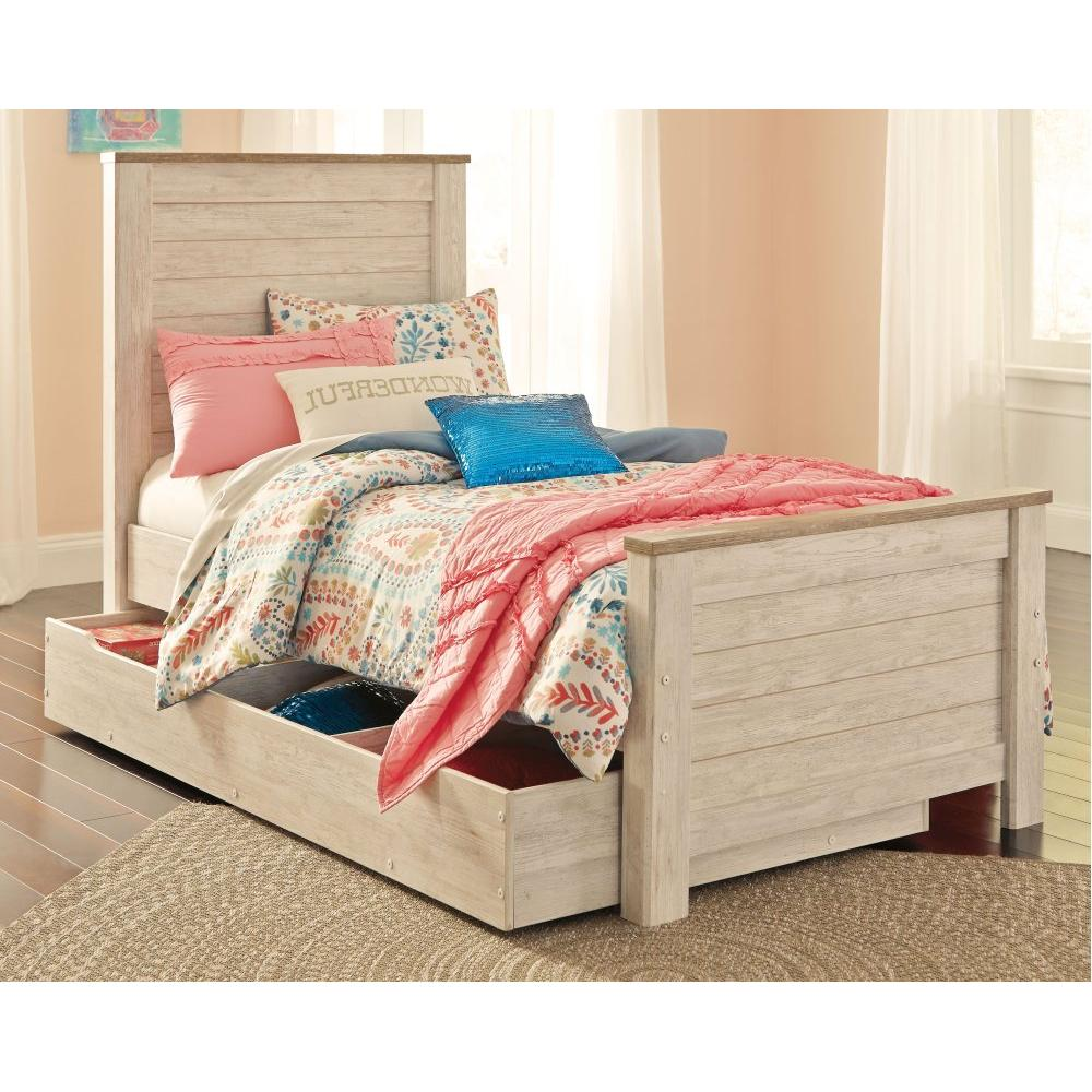 Willowton Twin Panel Bed With 1 Large Storage Drawer