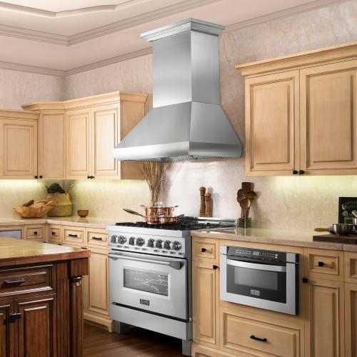 ZLINE Professional Ducted Wall Mount Range Hood in Stainless Steel (687) [Size: 30 Inch]