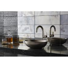 Single-Control Sink Faucet, Tall Spout - Nickel Silver
