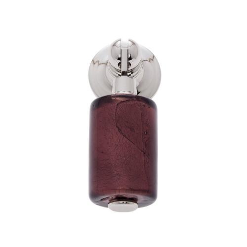 Polished Nickel 30 mm Purple Pendant Pull