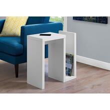 """ACCENT TABLE - 24""""H / WHITE"""