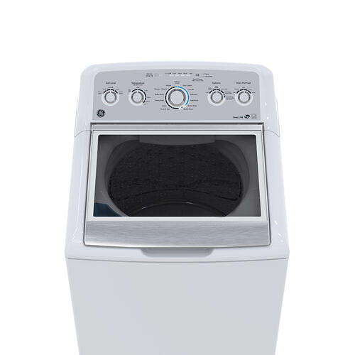 GE 5.0 Cu. Ft. (IEC) Top Load Washer with Stainless Steel Basket White - GTW575BMMWS