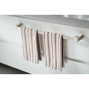 "90 Degree brushed nickel 24"" towel bar"