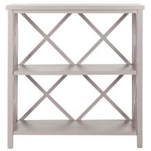 See Details - Liam Open Bookcase - Grey