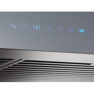 Ispira 30-in. 600 CFM Stainless Steel Chimney Range Hood with PURLED Light System and Brushed Grey Glass