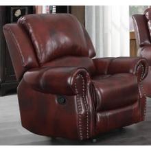 Del Rio Wine Leather (Sofa & Love) Glider Recliner