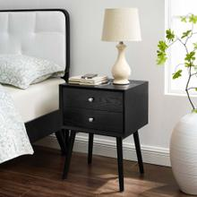 See Details - Ember Wood Nightstand With USB Ports in Black Black
