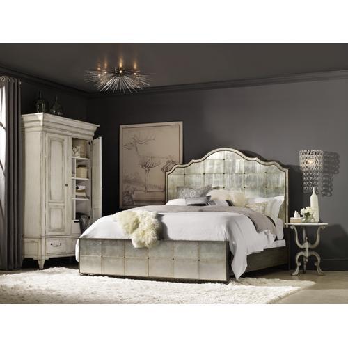 Arabella California King Mirrored Panel Bed