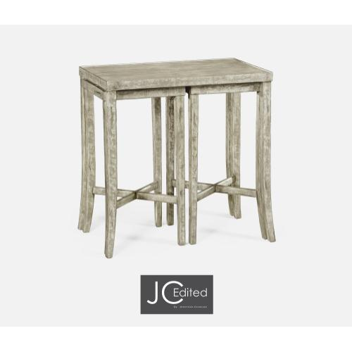 Nesting Cocktail Tables in Rustic Grey