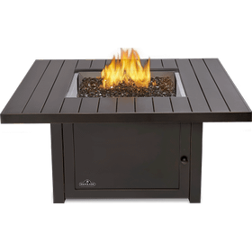 St. Tropez Square Patioflame Table , Bronze , Propane