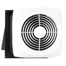 "Motordor® 360 CFM 10"" Through Wall Fan, White Plastic Grille"