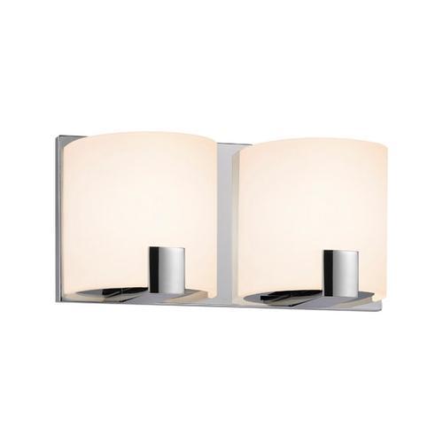 Sonneman - A Way of Light - C-Shell LED Bath Bar [Size=2-Light, Color/Finish=Polished Chrome]