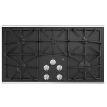 """GE 36"""" Built-In Deep-Recessed on Glass Gas Cooktop Stainless Steel - JGP5536SLSS"""