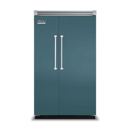 "Viking - Iridescent Blue 48"" Side-by-Side Refrigerator/Freezer - VISB (Integrated Installation)"