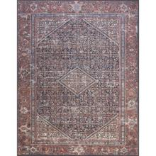 """Lucca Navy Red Rug - 2'-3"""" x 3'-9"""""""