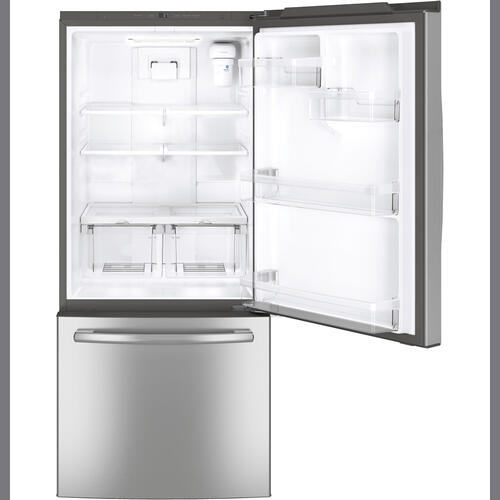 GE Profile 20.9 cu.ft. Bottom Freezer Refrigerator Stainless Steel PDE21KSKSS