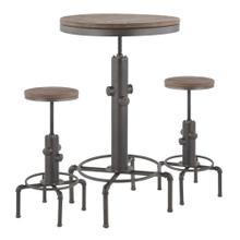 See Details - Hydra Bar Set - Antique Metal, Brown Bamboo