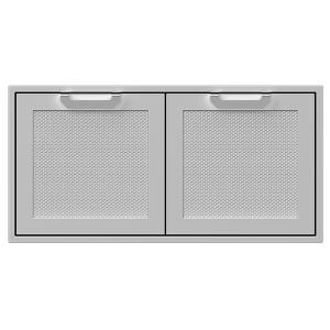 """42"""" Hestan Outdoor Double Storage Doors - AGSD Series - Froth"""