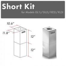 See Details - ZLINE 2-12 in. Short Chimney Pieces (SK-GL1i/GL2i/KE2i/KL3i)