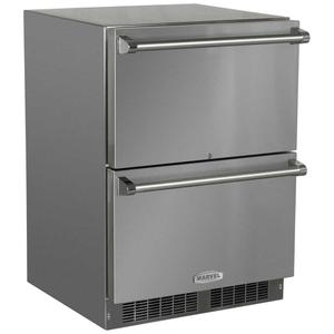 Marvel24-In Outdoor Built-In Refrigerated Drawers with Door Swing - Field Reversible