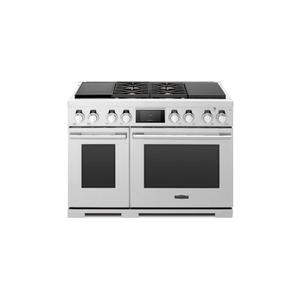 Signature Kitchen Suite48-inch Dual-Fuel Pro Range with Sous Vide and Induction