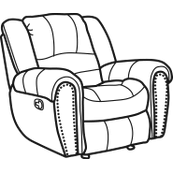 Hometown Fabric Gliding Recliner