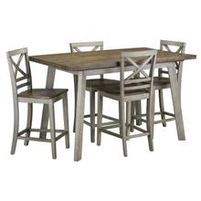 View Product - Fairhaven Counter Height Table and Four Chairs Set, Grey
