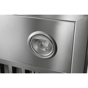 "Colonne - 48"" Stainless Steel Chimney Range Hood with a choice of Exterior or In-line blowers"